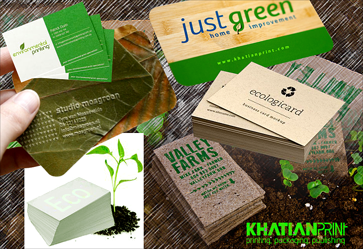 eco business card recycled paper sustainable green visiting cards | Khatian Print