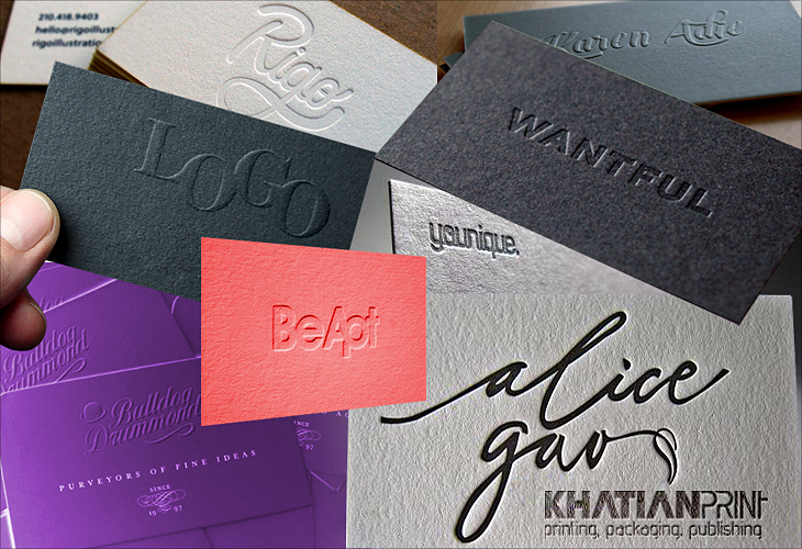 embossed engraved business cards engraving emboss visiting card