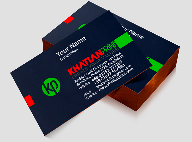 edge colored luxury business cards side border painted special name card | khatian print