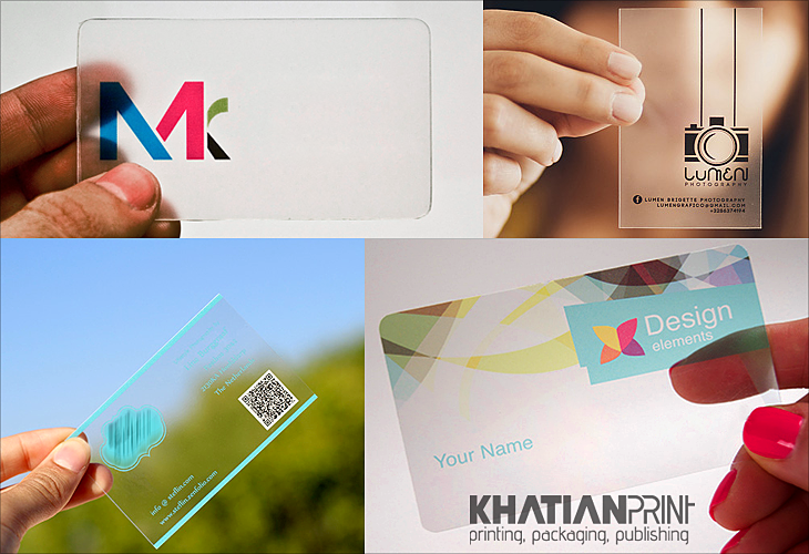 transparent business cards crystalline translucent crystal clear visiting card | Khatian Print