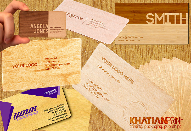 wood timber lumber wooden woody bamboo business visiting cards | Khatian Print