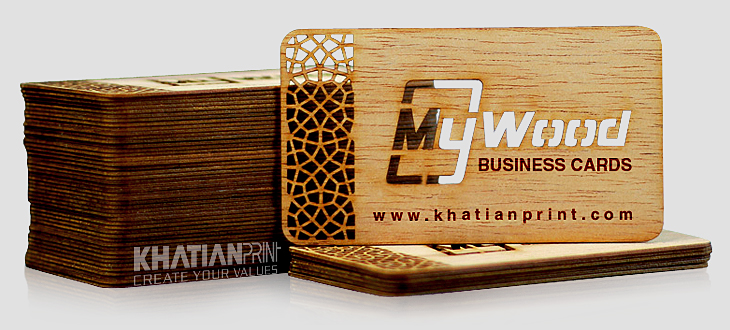 luxury wood business card first class natural timber special name cards | khatian print