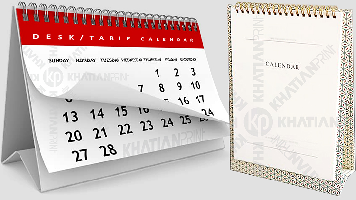 creative artistic desk calendar table desktop gift calendars year planner | khatian print