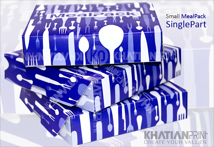 one part small MealPack tiffin snack meal box short tiny fast food packs | khatian print
